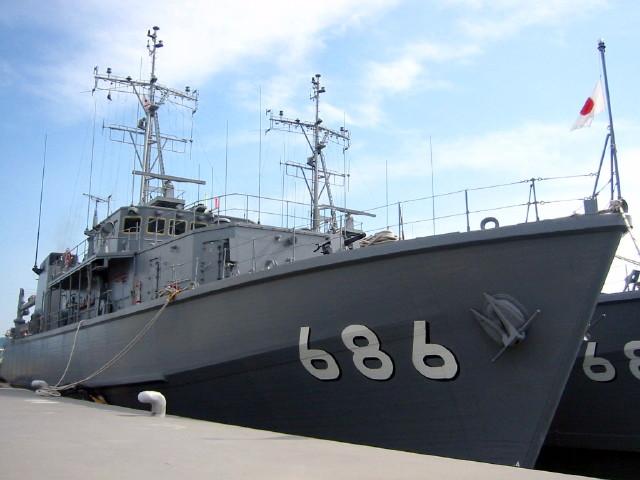 海上自衛隊 掃海艇「うくしま」一般公開 画像